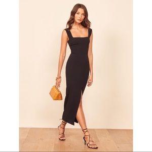 Reformation NWT Black Graciella Maxi Dress Sz 10